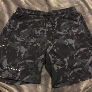 Alphalete splinter camo shorts